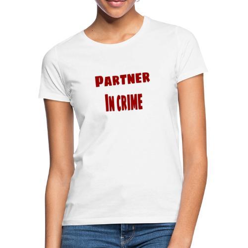 Partner in crime red - T-shirt dam