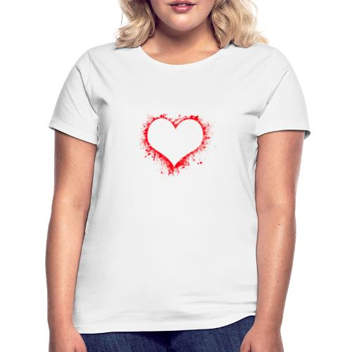 corazón pintura - Camiseta mujer