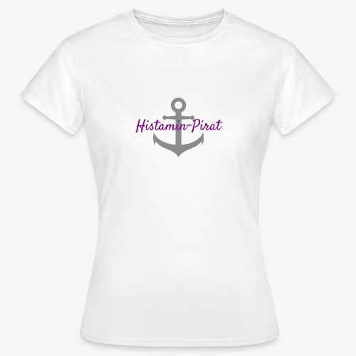 Histamin-Pirat mit Anker lila | Histaminintoleranz - Frauen T-Shirt