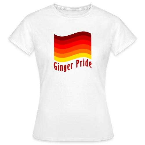 Ginger Pride flag Dark png - Women's T-Shirt