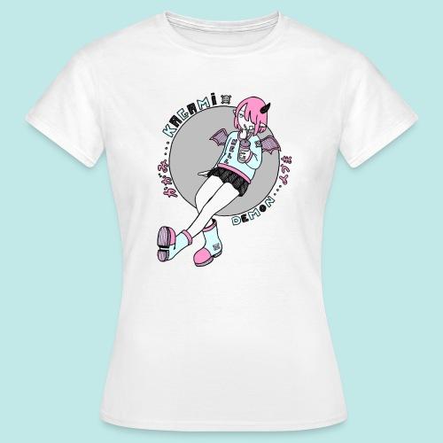 Démon fille Cute kawaii boisson - T-shirt Femme