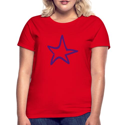 Star Outline Pixellamb - Frauen T-Shirt