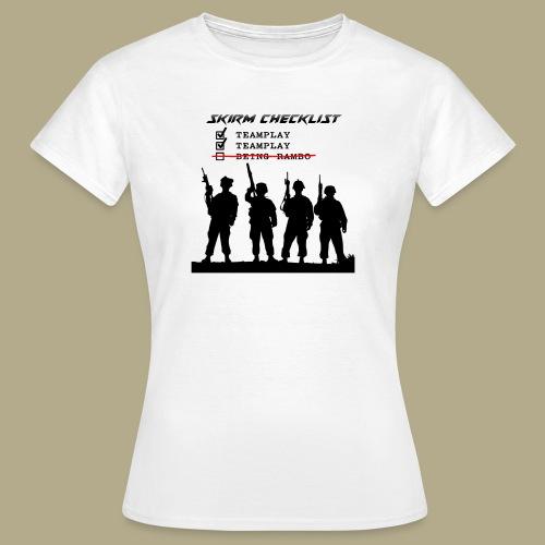 Skirm Checklist - Vrouwen T-shirt