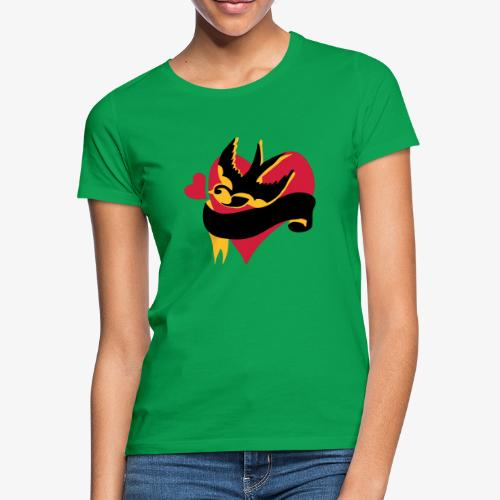 retro tattoo bird with heart - Women's T-Shirt