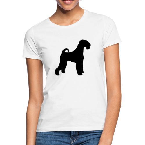 BLACK Airedale Terrier - Women's T-Shirt