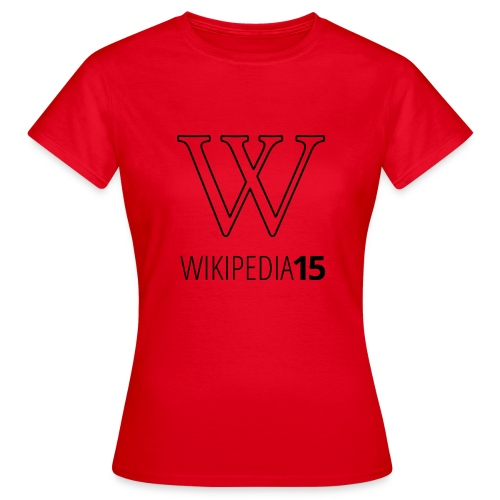 W, rak, vit - T-shirt dam