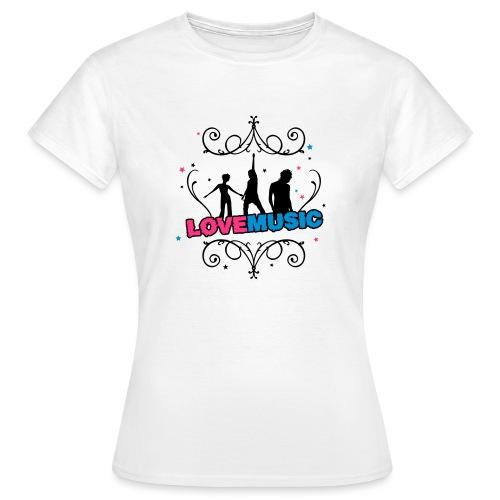 Motif Love Music - T-shirt Femme