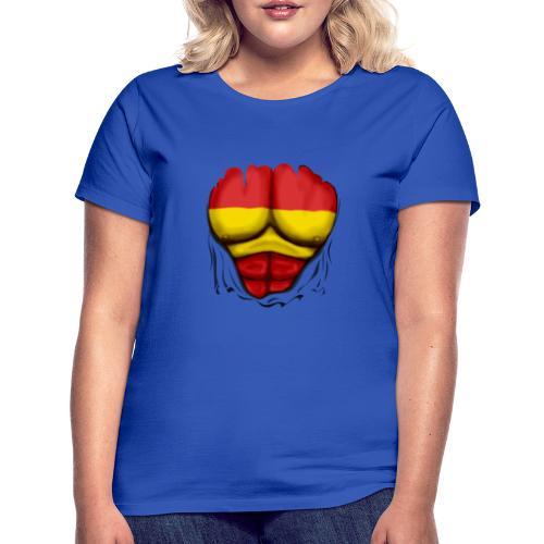 España Flag Ripped Muscles six pack chest t-shirt - Women's T-Shirt