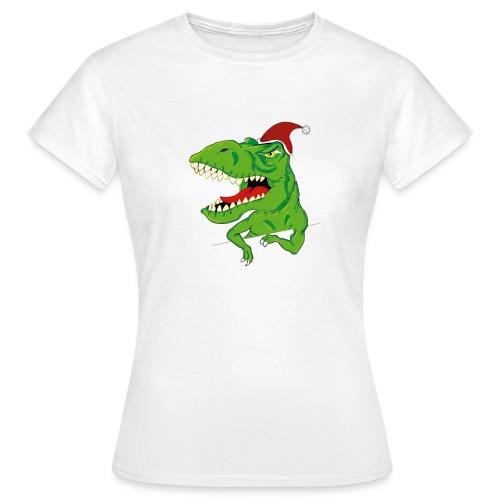 Navidad dinosaurio - Camiseta mujer