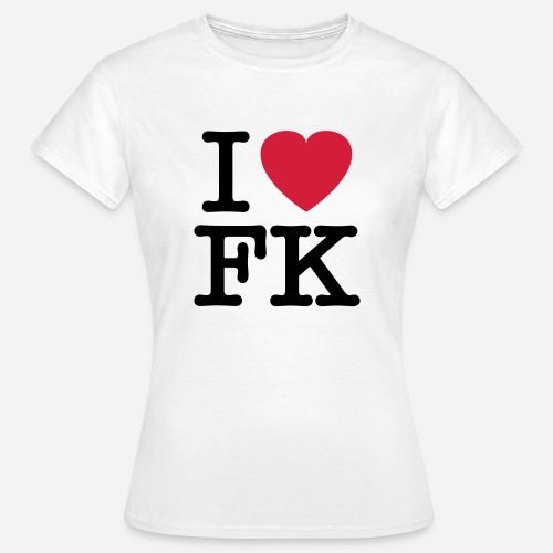 ilovefk logo - Frauen T-Shirt