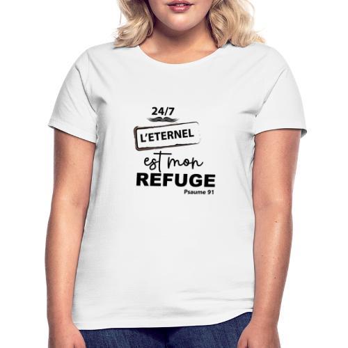 247 Éternel mon refuge en noir - T-shirt Femme