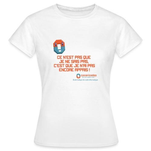 apprendre - T-shirt Femme