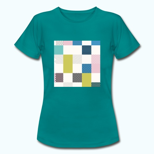 Abstract art squares - Women's T-Shirt