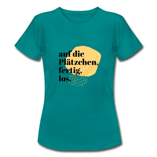 Auf die Plätzchen, fertig, los. Aquarell - Frauen T-Shirt