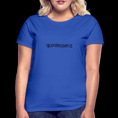 quintessenz black - Frauen T-Shirt