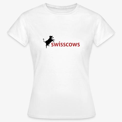 Schwarz-Rot Hoodie - Frauen T-Shirt