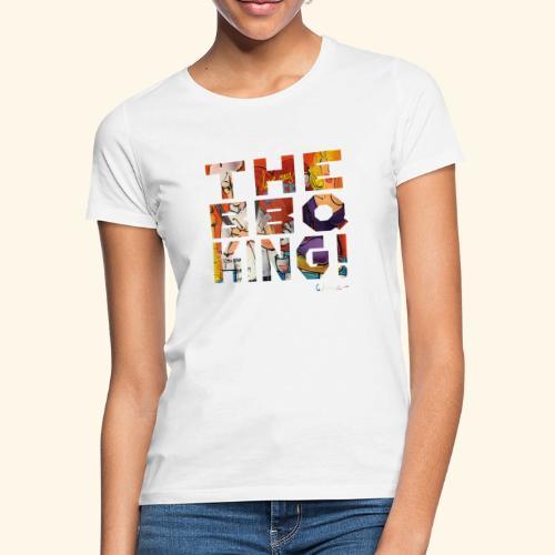 THE BBQ KING T SHIRTS TEKST - Vrouwen T-shirt