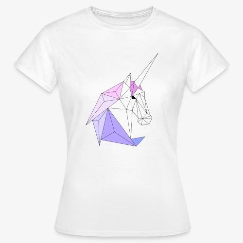 Einhorn geometrie unicorn - Frauen T-Shirt