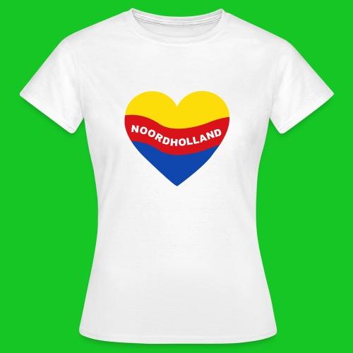 Love Noord Holland Hart.png - Vrouwen T-shirt