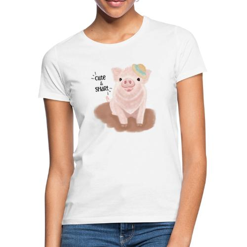 Cute & Smart Pig - Women's T-Shirt
