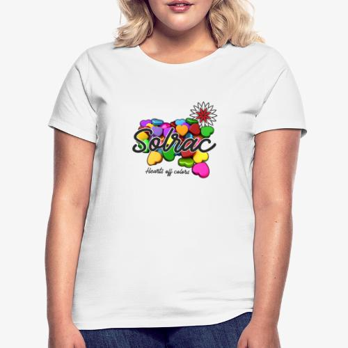 SOLRAC Hearts White - Camiseta mujer