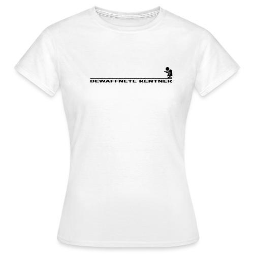 Rentner mit Linie schwarz png - Frauen T-Shirt