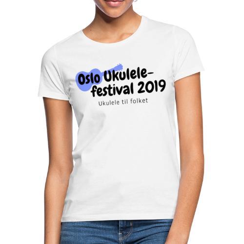 Oslo Ukulelefestival 2019 i svart - T-skjorte for kvinner