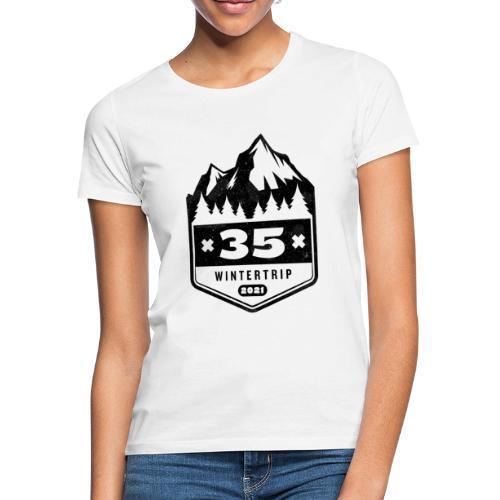 35 ✕ WINTERTRIP ✕ 2021 • BLACK - Vrouwen T-shirt