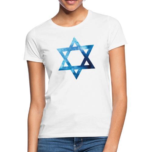 Blaues Aquarell Davidstern - Frauen T-Shirt