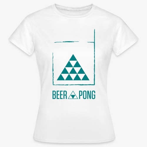 Beer Pong Table Triangle - Frauen T-Shirt