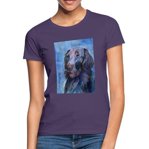 flatcoated retriever - watercolor - Dame-T-shirt