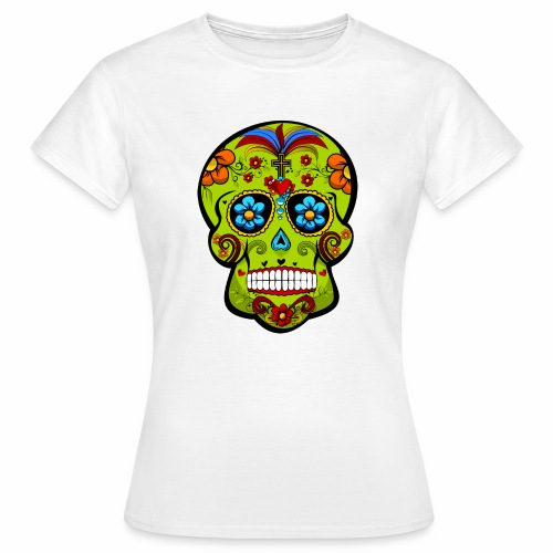 Calavera Verde - Camiseta mujer
