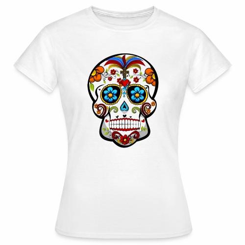 Calavera Blanca - Camiseta mujer