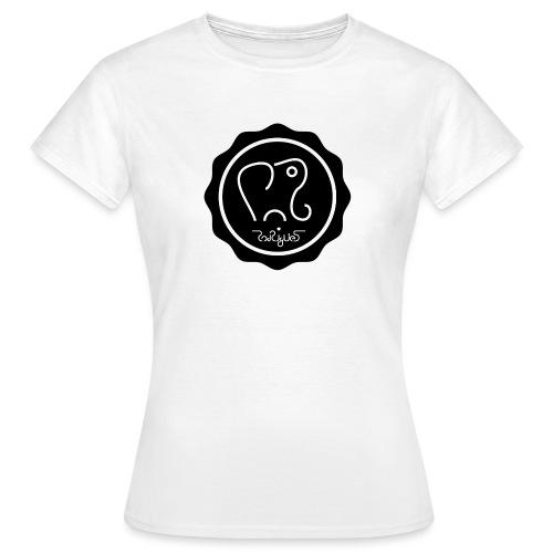 Elephanten siegel-schwarz - Frauen T-Shirt