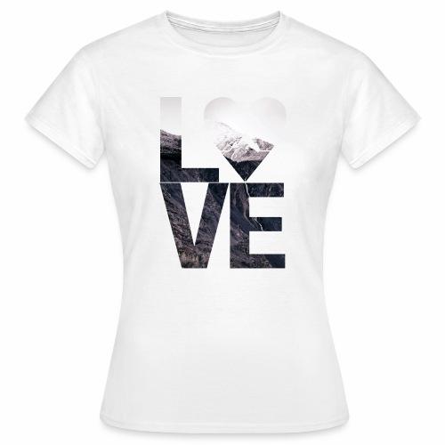 L.O.V.E - Mountains - Frauen T-Shirt