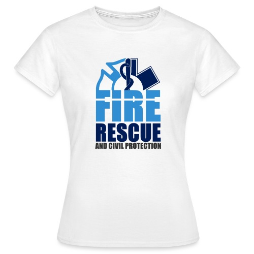 FIRE RESCUE and civil protection - Frauen T-Shirt