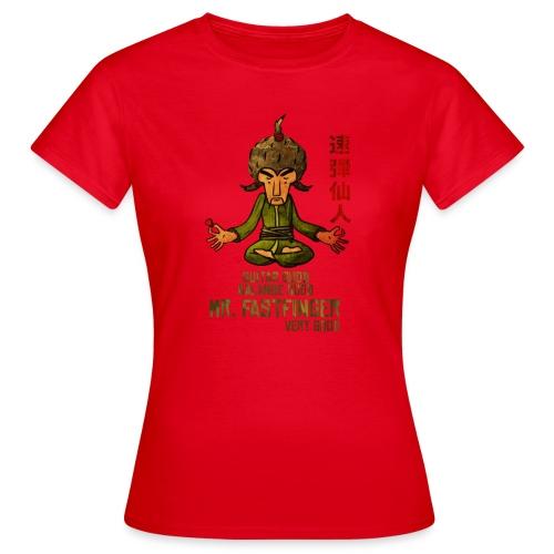 Mr. Fastfinger - cartoon guitar hero - Women's T-Shirt