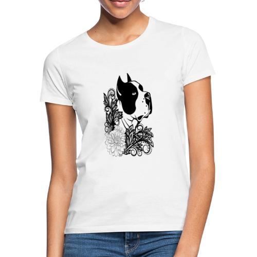 perro con flores - Camiseta mujer
