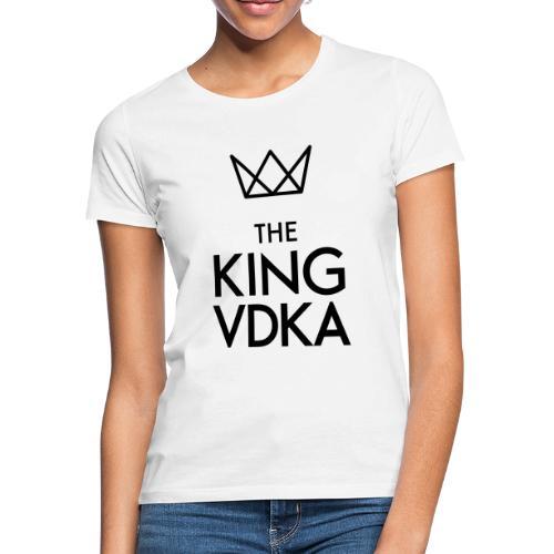 The King VDKA Logo schwarz RGB - Frauen T-Shirt