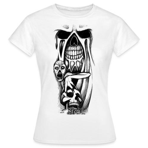 grey ink evil zombie tattoo designs - Koszulka damska