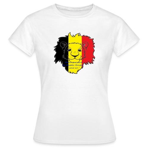 Lion supporter Belgique - T-shirt Femme