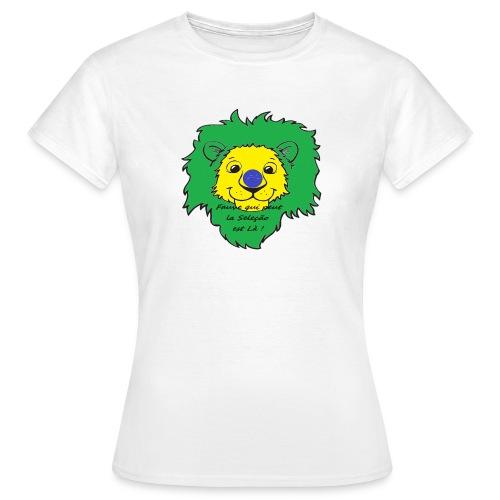 Lion supporter Brésil - T-shirt Femme