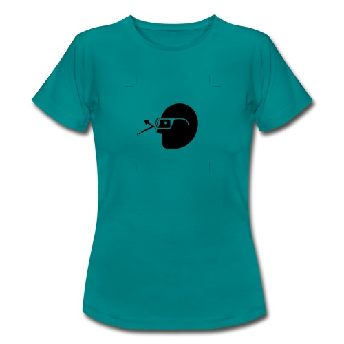 Kopf mit Brille - Frauen T-Shirt