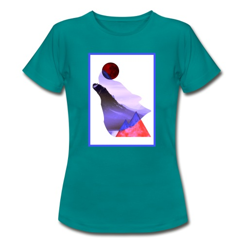 Måne Ulv - Laurids B Design - Dame-T-shirt