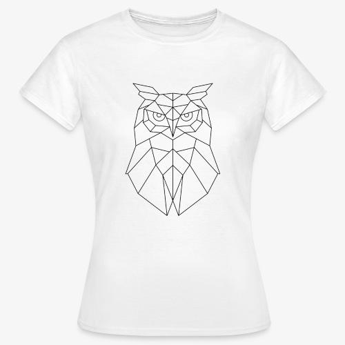 Eule Geometrisch schwarz - Frauen T-Shirt