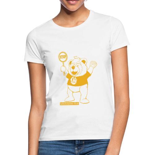 FUPO der Bär. Druckfarbe Orange - Frauen T-Shirt