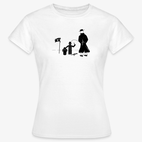 Pissing Man against terrorism - Frauen T-Shirt