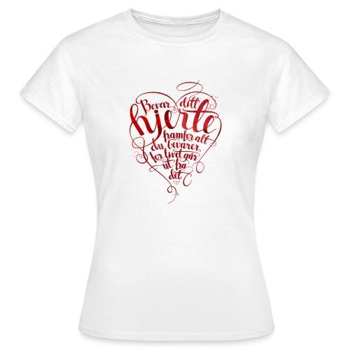 Bevar ditt hjerte - T-skjorte for kvinner