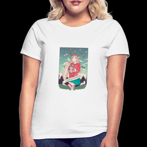 Linneafly Holidays - T-skjorte for kvinner