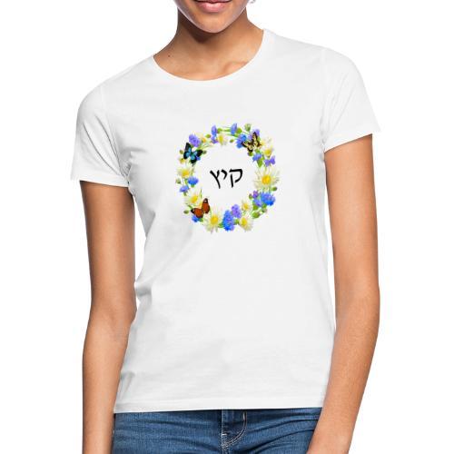 Corona floral verano, hebreo - Camiseta mujer